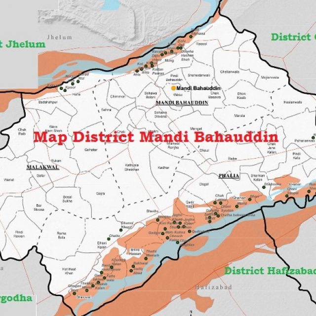 Mandi Bahauddin District UC List, MNA MPA Seats