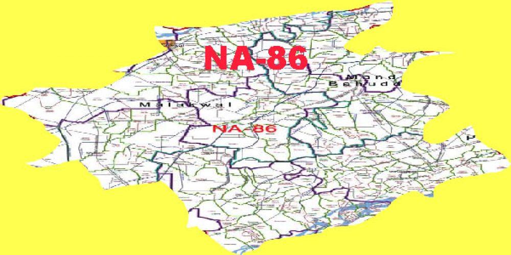 NA-86 Mandi Bahauddin Area, Map, Candidates – 2018