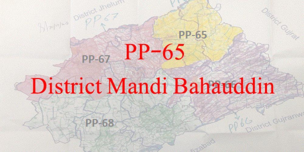 PP-65 Mandi Bahauddin Candidate List – Election 2018 Mandi Bahauddin